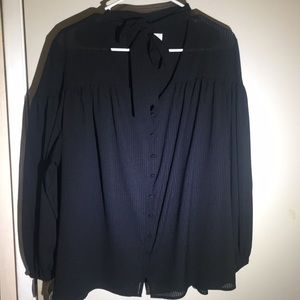 Black women's blouse.